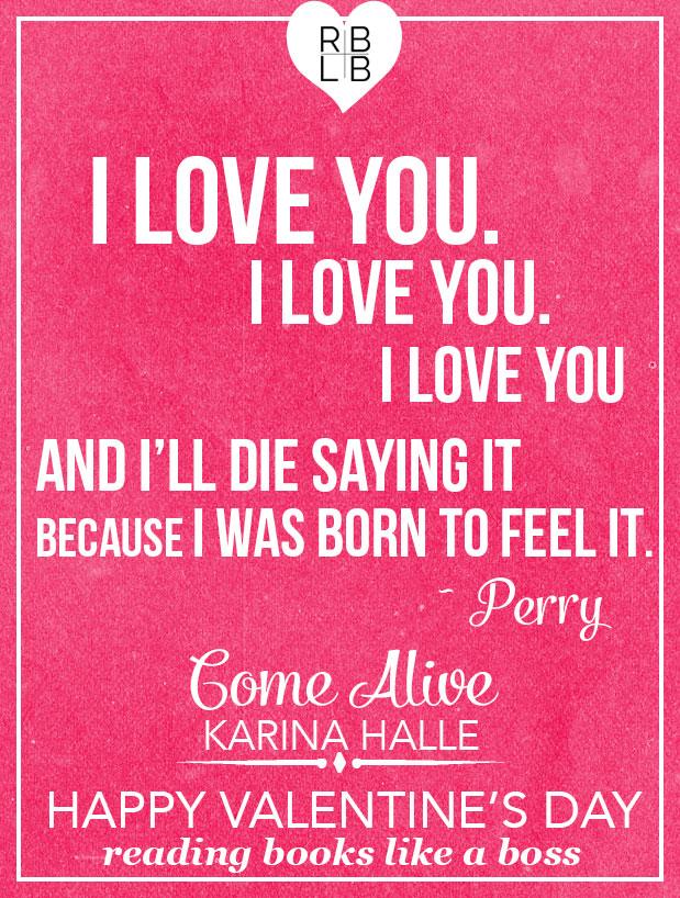 Come Alive by Karina Halle Valentine