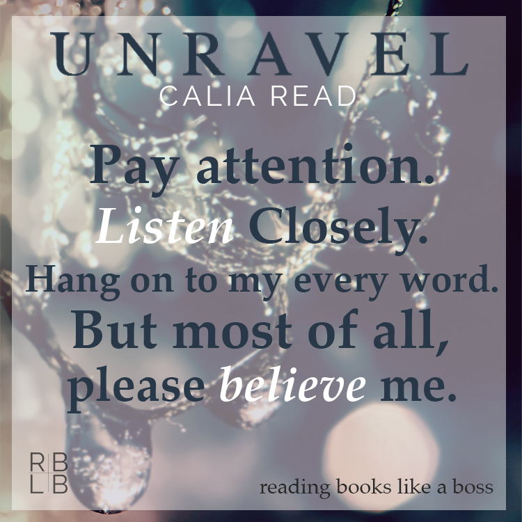 Review — Unravel by Calia Read