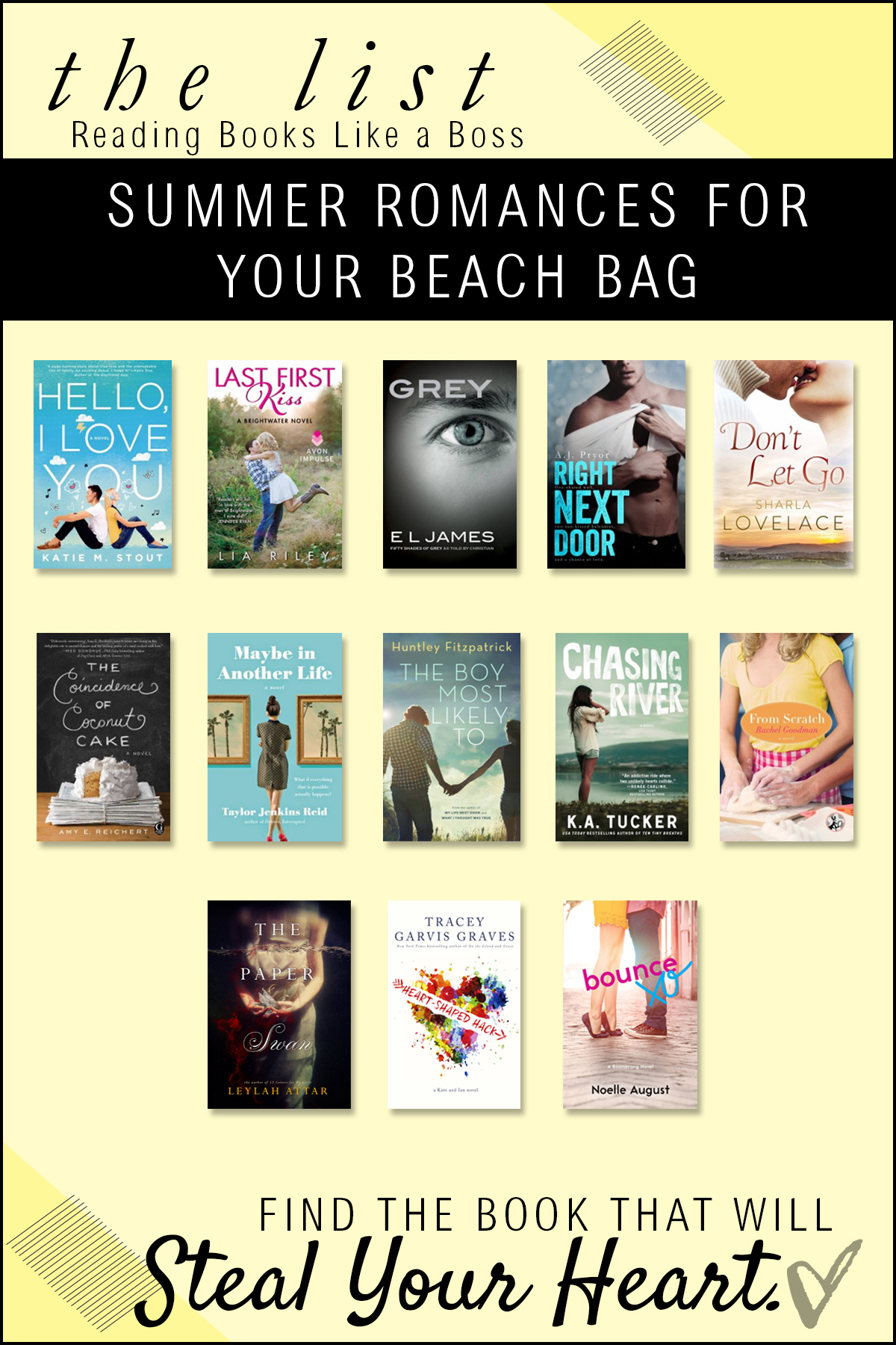 Summer Romance Books for Your Beach Bag via Reading Books Like a Boss
