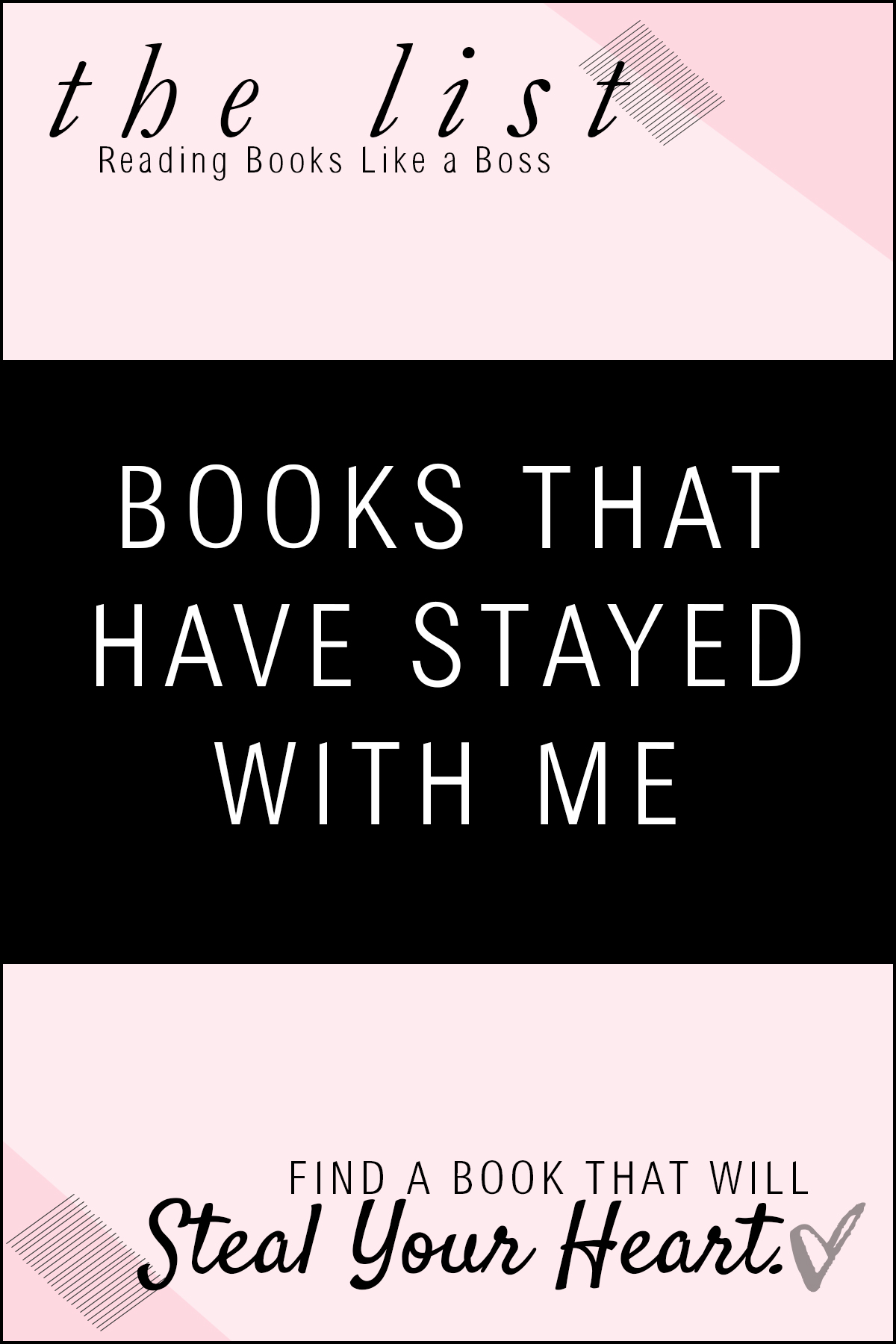 The List - Books That Have Stayed With Me