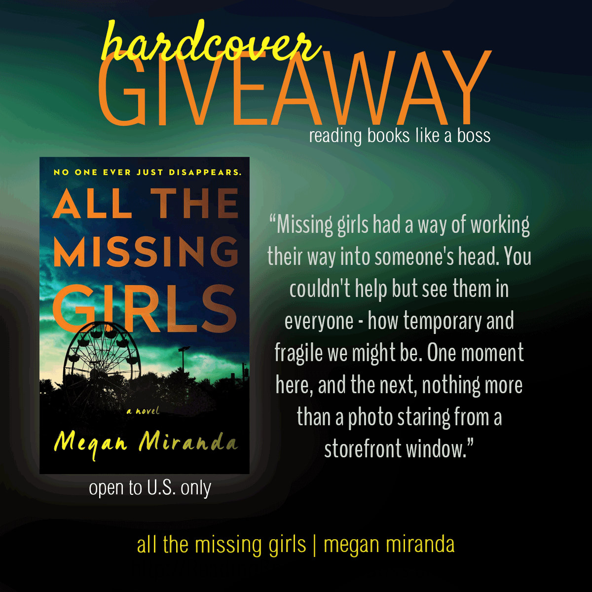 Hardcover of All the Missing Girls by Megan Miranda