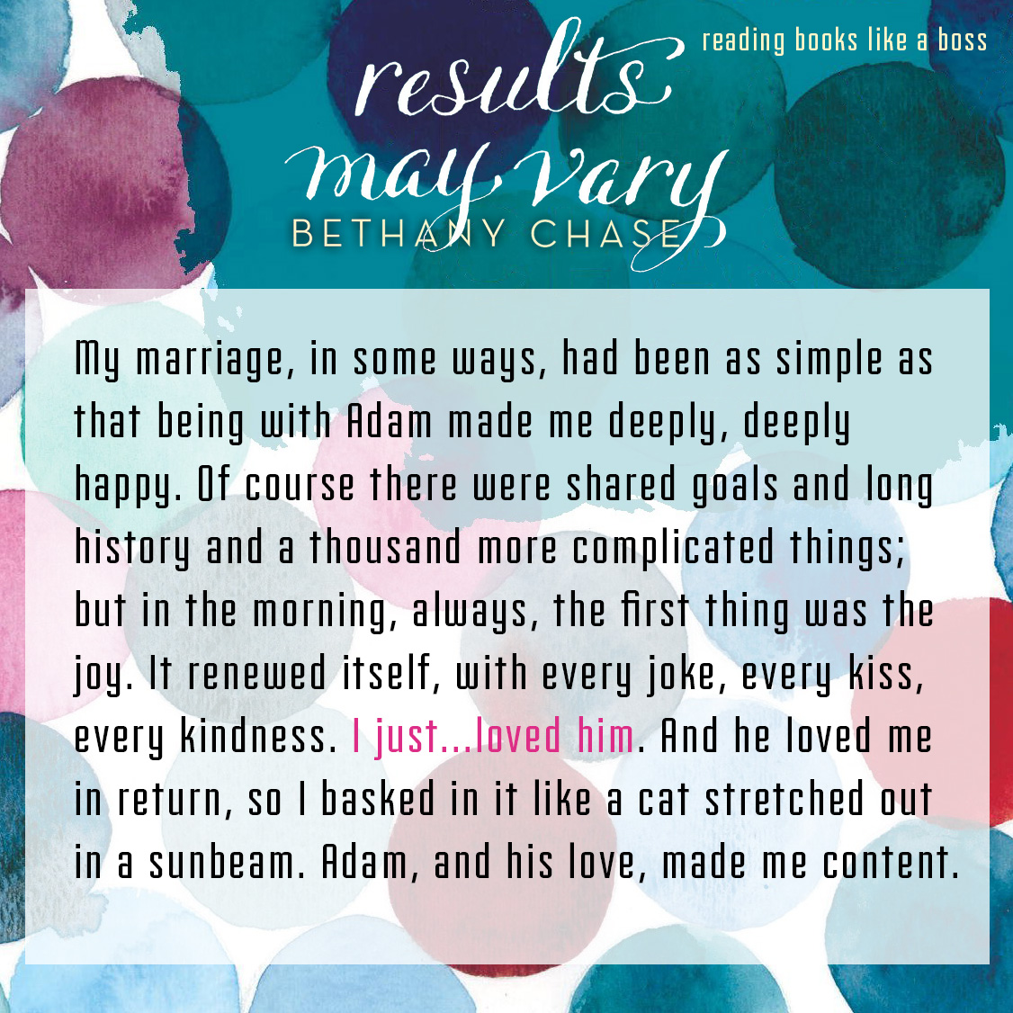 Teaser: Results May Vary by Bethany Chase