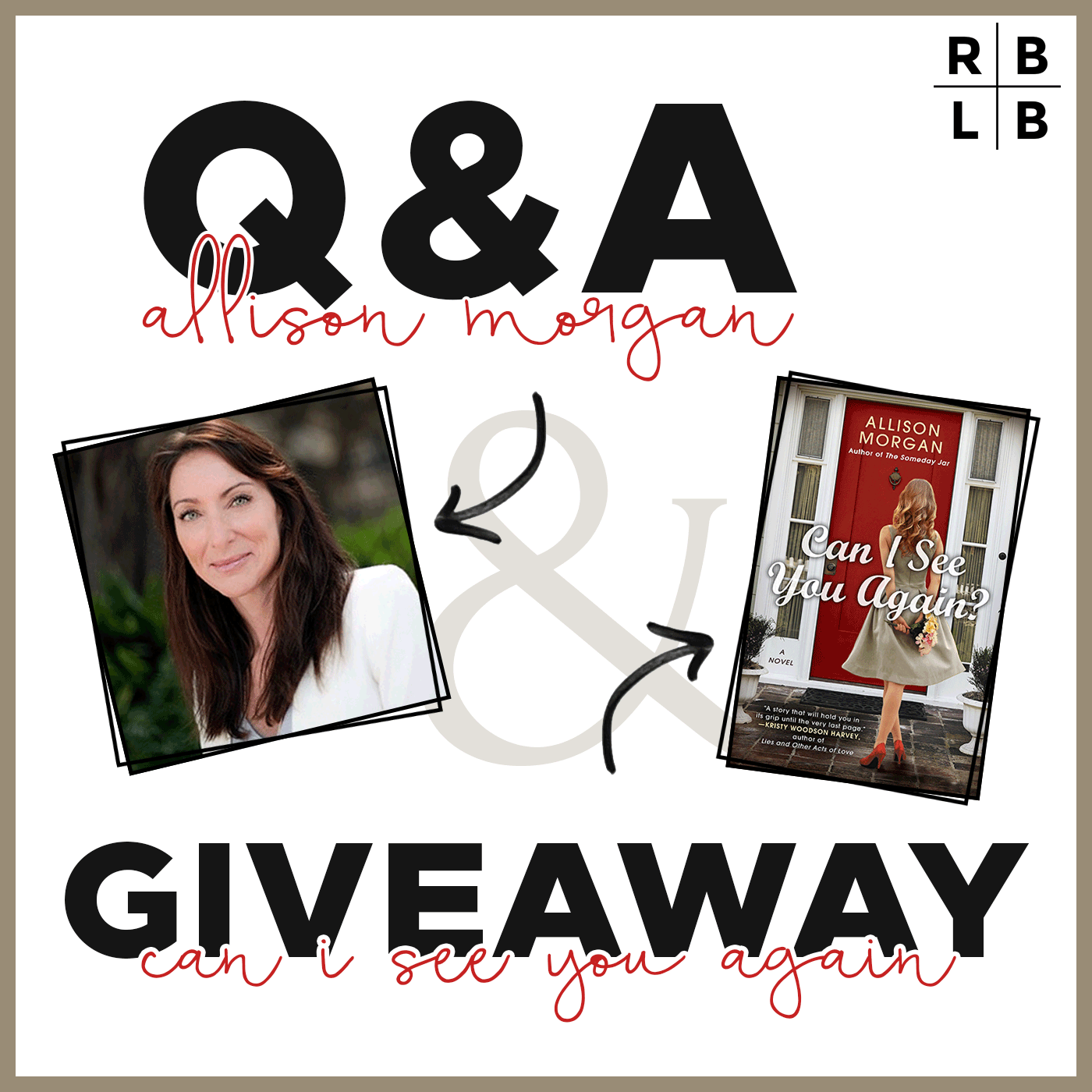 Interview w/ Allison Morgan & Giveaway of Can I See You Again