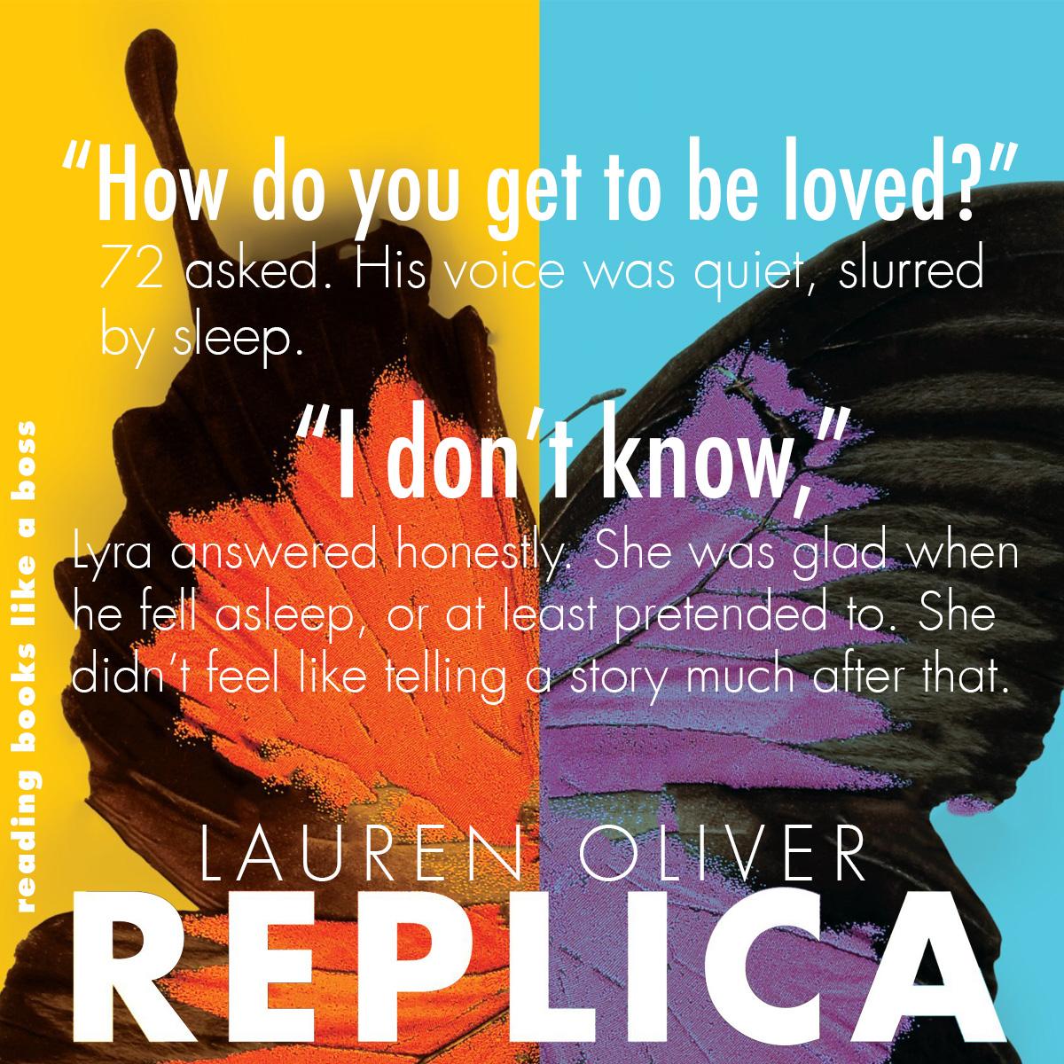 Teaser - Replica by Lauren Oliver