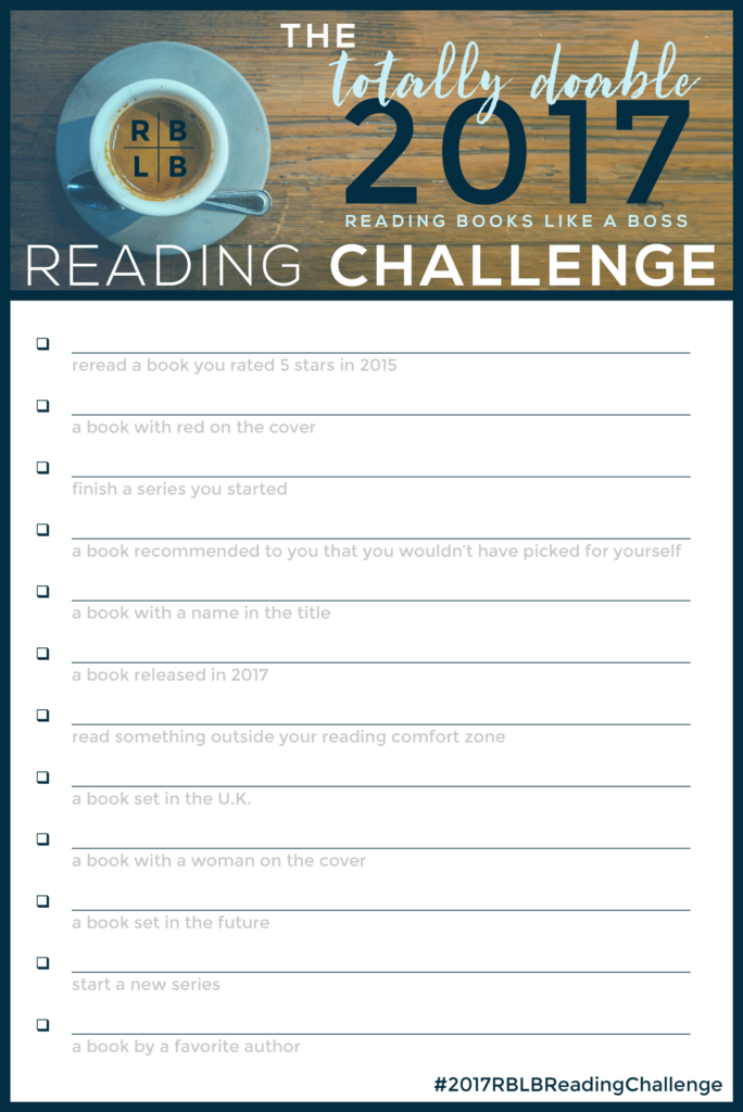 The Totally Do-able 2017 RBLB Reading Challenge | Reading Books Like a Boss