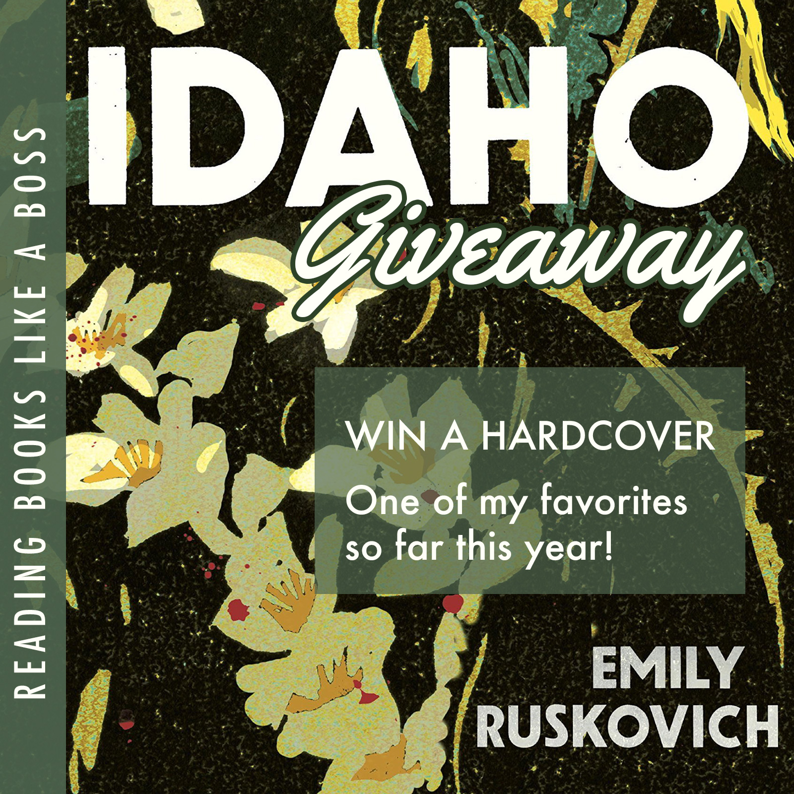 1 Hardcover copy of IDAHO by Emily Ruskovich - Open Internationally