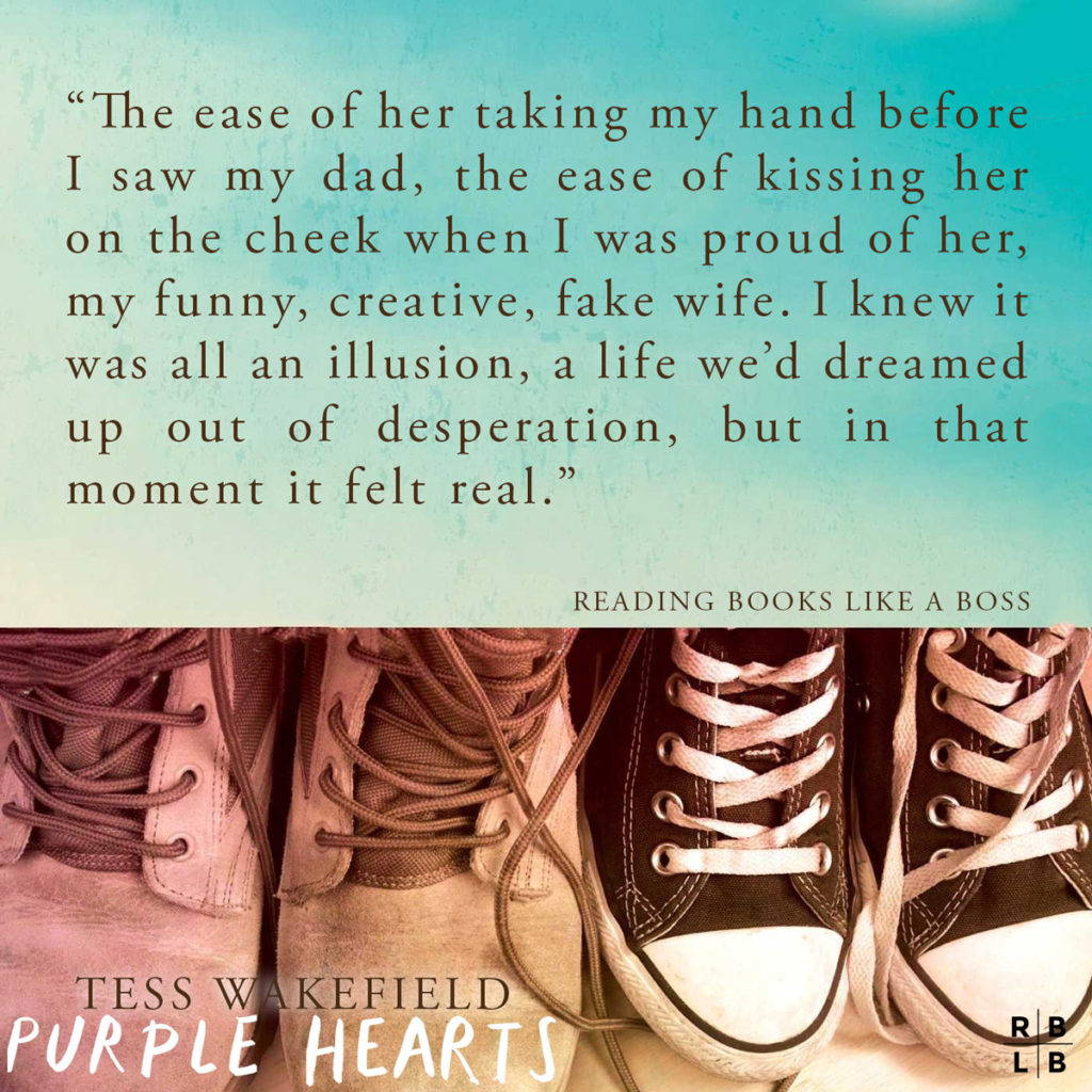 Teaser - Purple Hearts by Tess Wakefield
